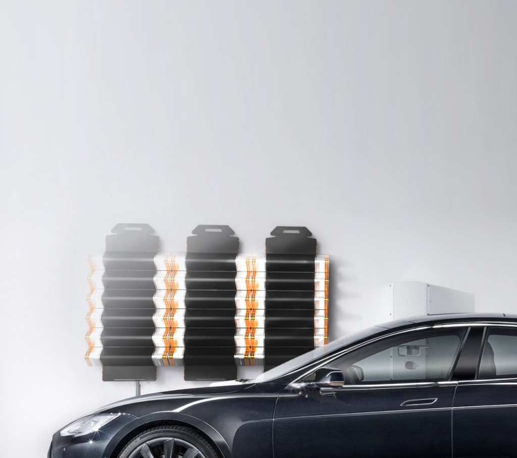 Wandmodule mit Tesla